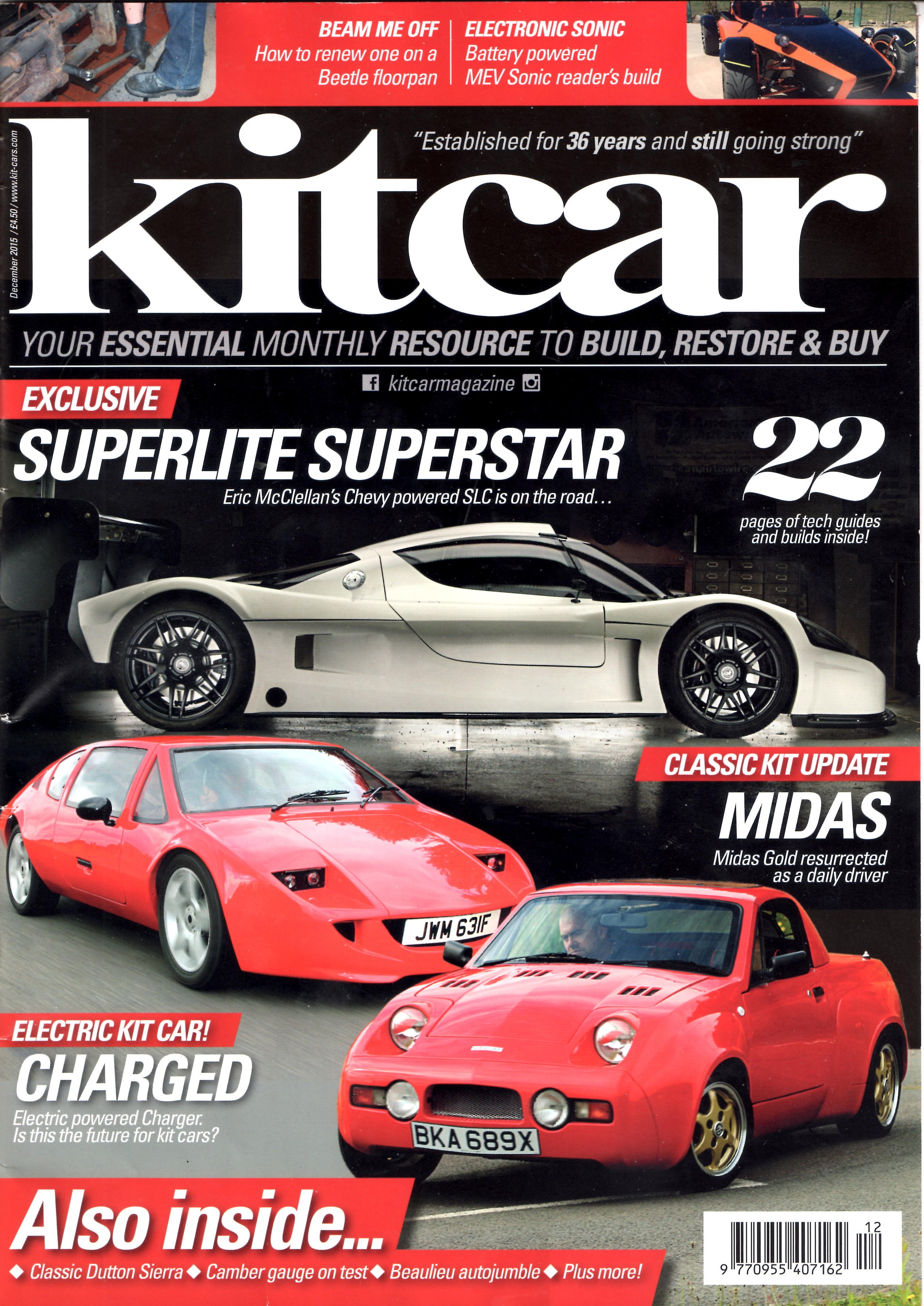 Midas Cars Featured In Kit Car And Tkc Magazines Midas Owners Club